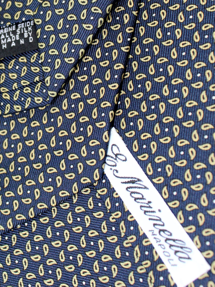 E. Marinella Tie Navy Mustard Paisley - New Collection