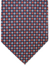 E. Marinella Tie Navy Red Geometric - New Collection