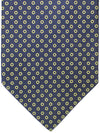 E. Marinella Tie Navy Yellow Circles - New Collection