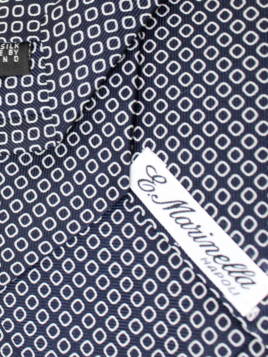 E. Marinella Tie Navy White Geometric - New Collection