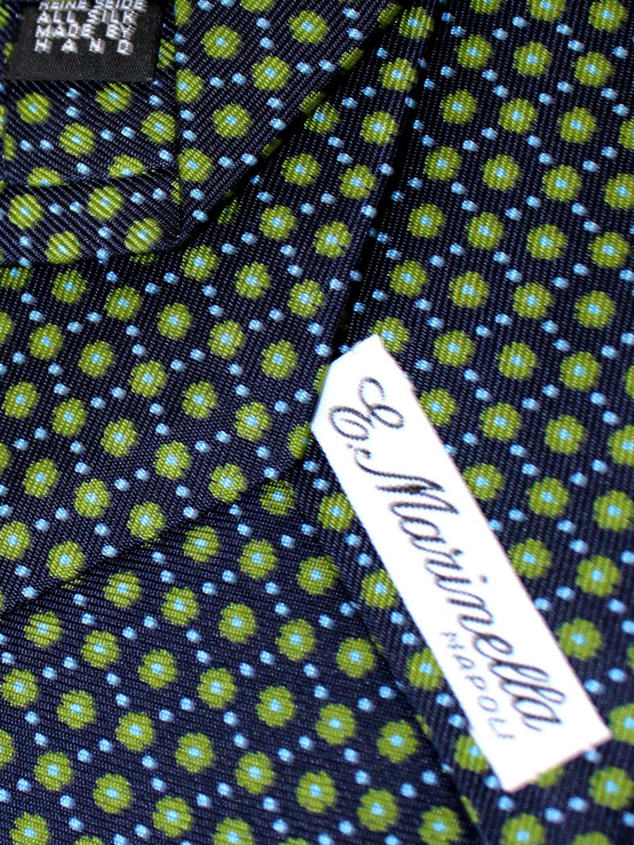 E. Marinella Tie Navy Green Sky Blue Floral - New Collection