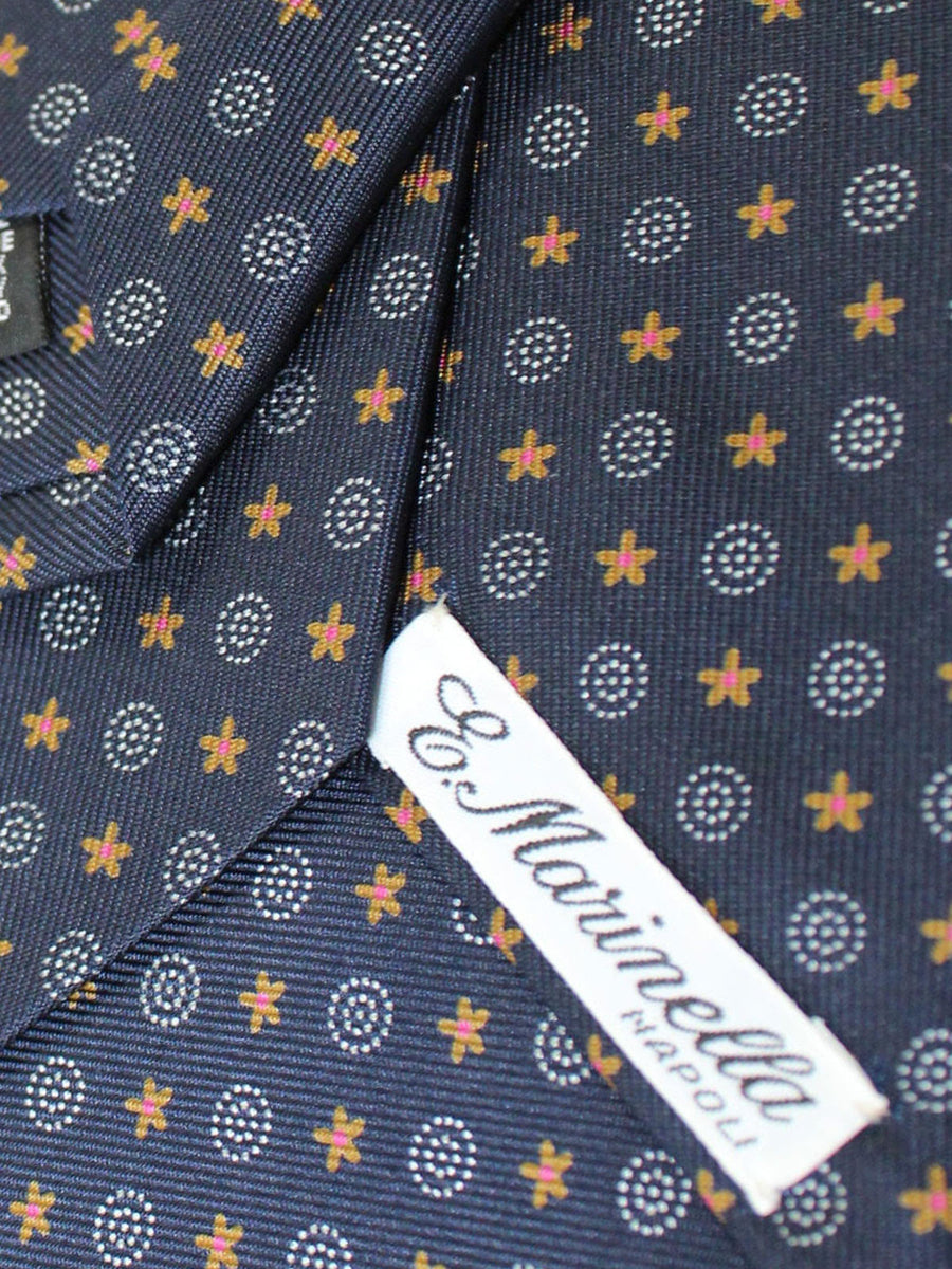 E. Marinella Tie Black Mustard Blue Geometric