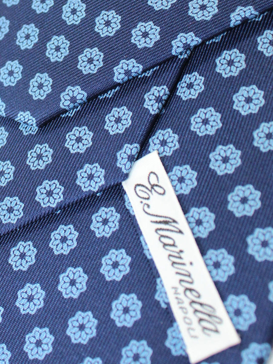 E. Marinella Tie Navy Blue Floral - New Collection