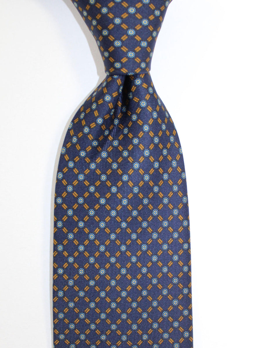 E. Marinella Tie Black Brown Geometric
