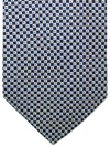 E. Marinella Tie Black Royal Silver Squares