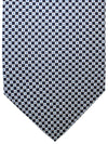 E. Marinella Silk Tie Black Blue Geometric