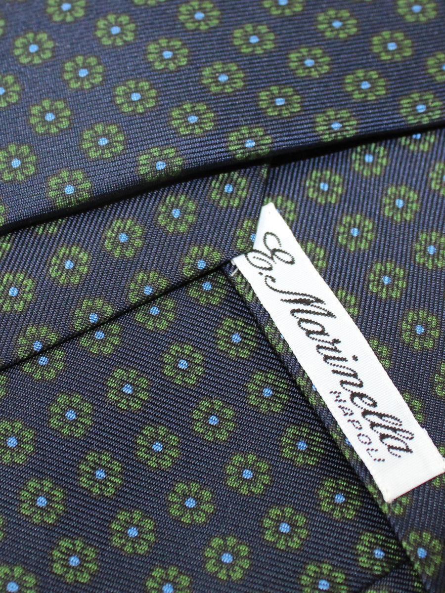 E. Marinella Silk Tie Navy Green Blue Floral