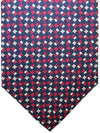 E. Marinella Silk Tie Black Red Floral