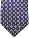 E. Marinella Silk Tie Dark Blue Purple Floral