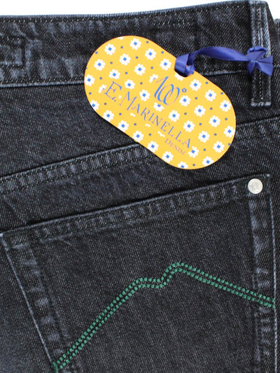 Marinella Jeans Black Hand Made Denim Jeans