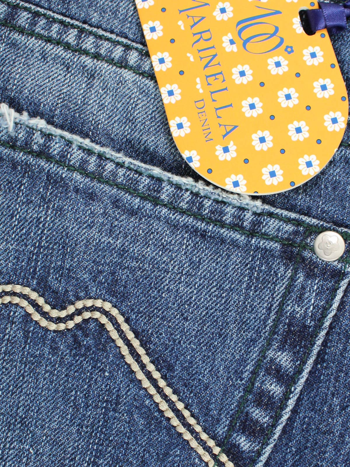 Marinella Denim Jeans Vintage Button Fly Slim Fit