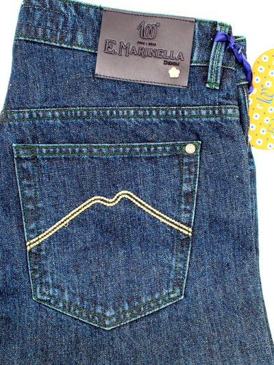 E. Marinella Jeans Dark Blue Denim Jeans 33 Regular Fit SALE