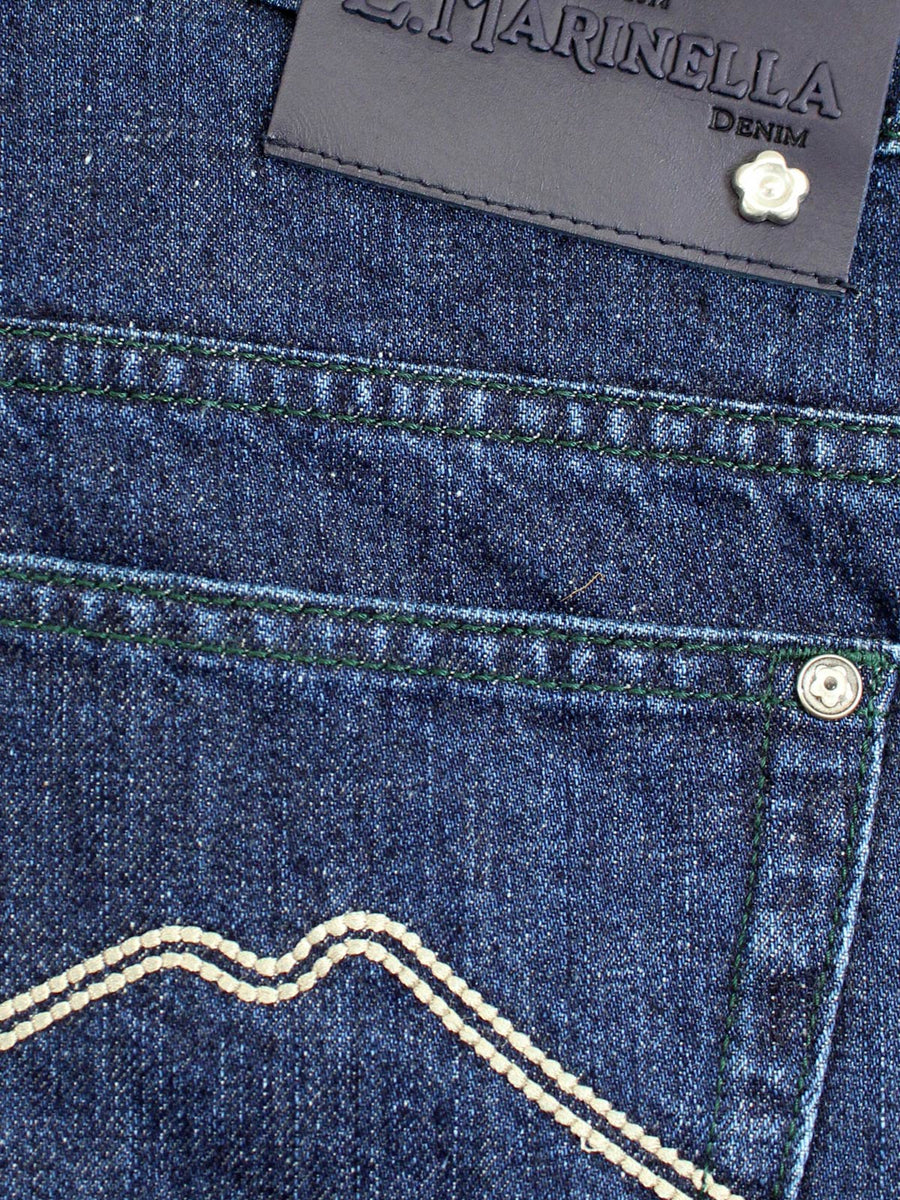 E. Marinella Jeans Dark Blue Denim Jeans