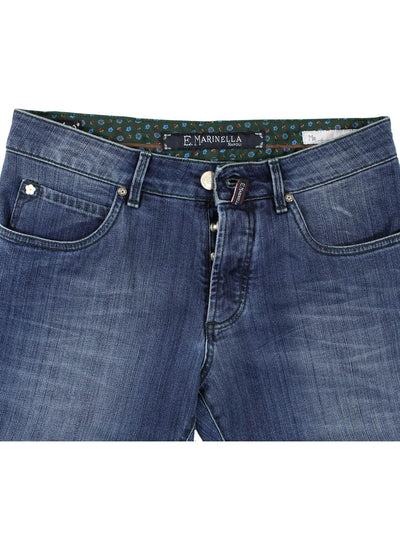 E. Marinella Jeans Denim Blue 31 Slim Fit - Capri Button Fly SALE