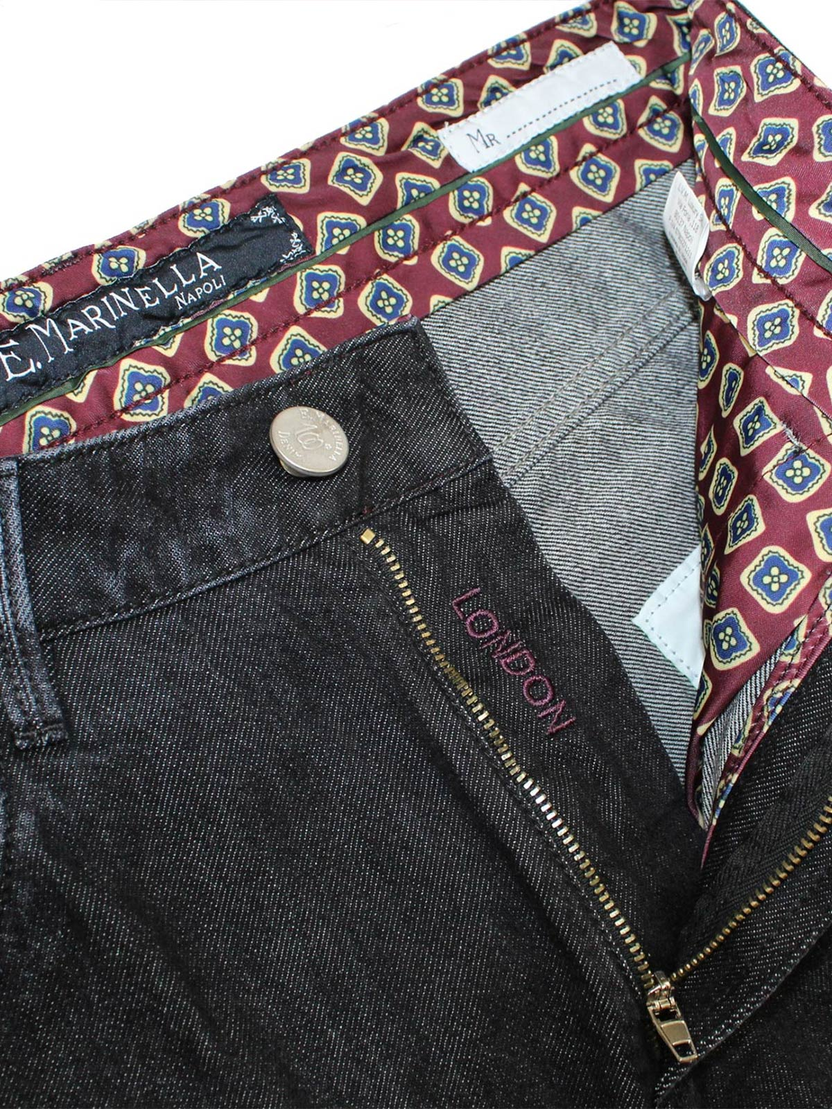E. Marinella Jeans Black Denim Jeans