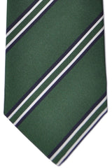 Marinella Tie Green Stripes - Wide Necktie