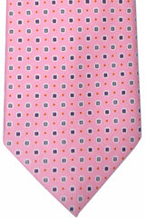 E. Marinella Tie Pink Geometric  New