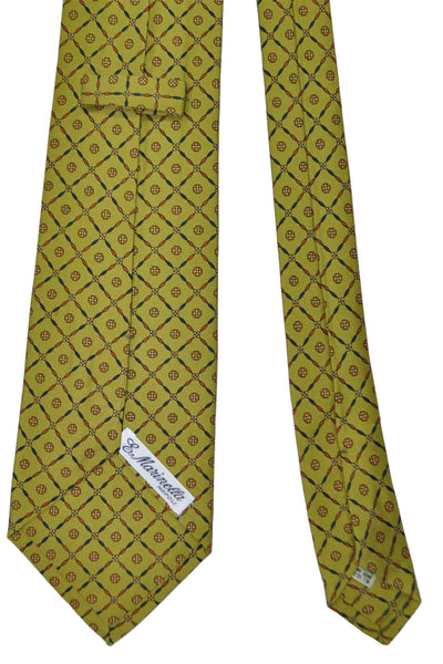 E. Marinella Tie Olive Design - Wide Necktie SALE