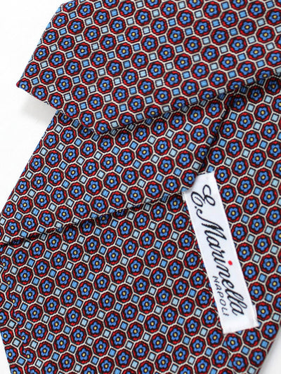 E. Marinella Napoli Tie Blue Red