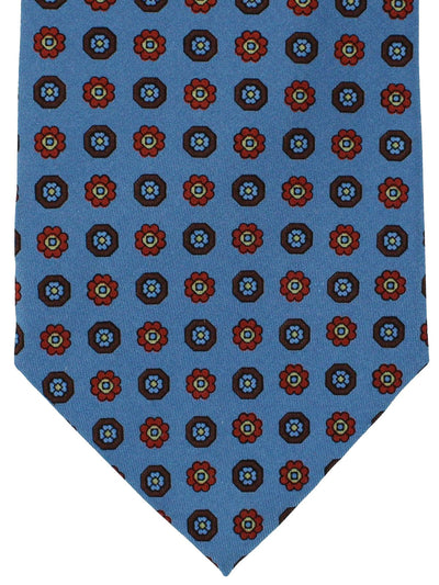 Marinella Napoli Tie Midnight Blue Flowers - Wide Necktie
