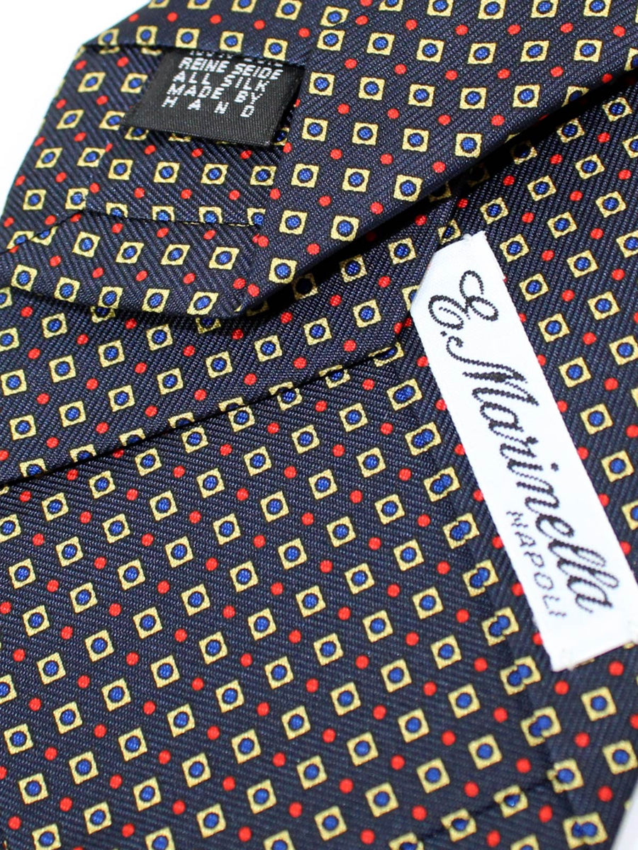 E. Marinella Tie Classic Navy Geometric - Fall/ Winter