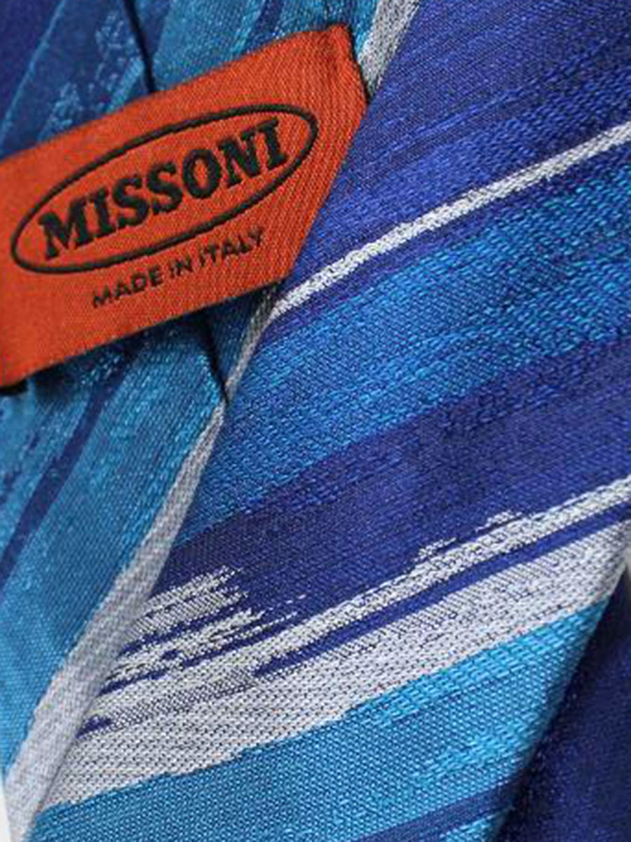 Missoni Tie Blue Stripes Design