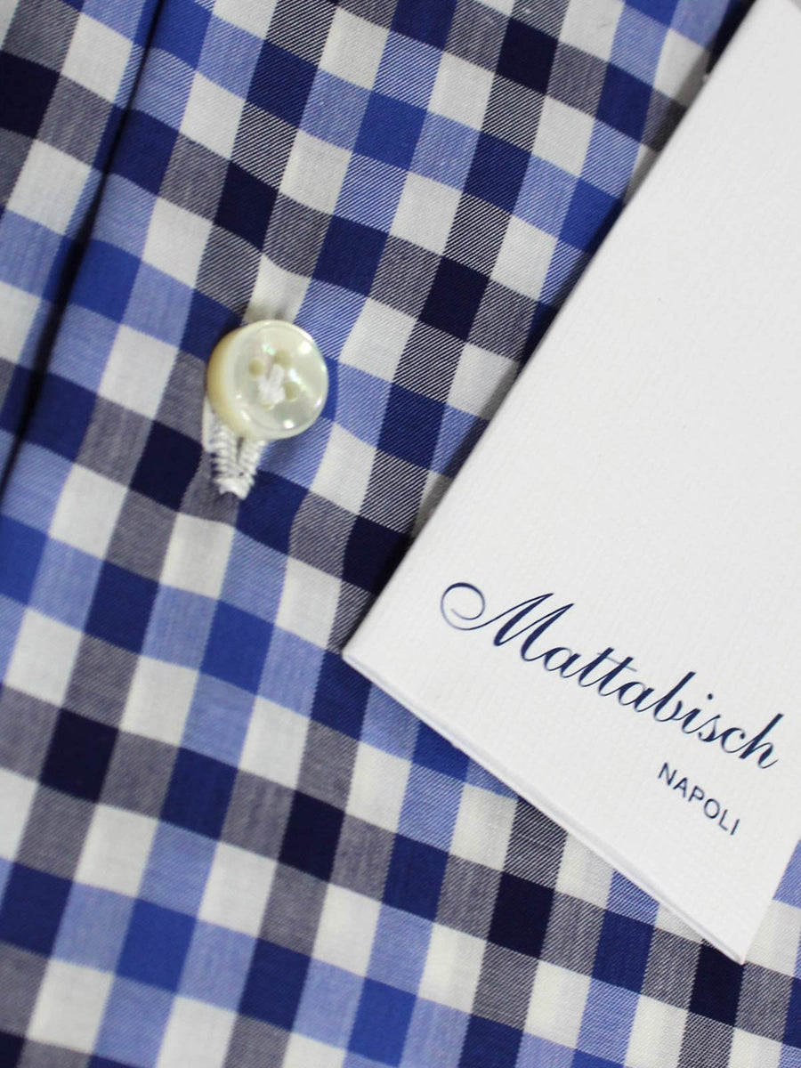 Mattabisch Shirt White Blue Navy Check