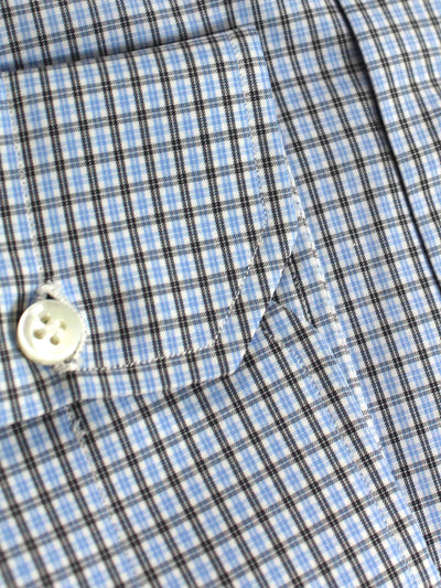 Mattabisch Shirt White Blue Black Check