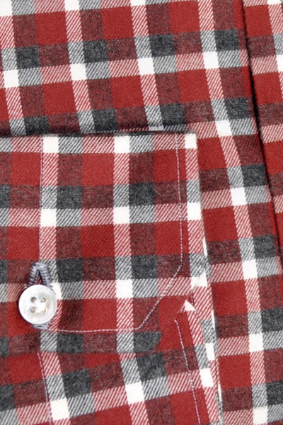 Mattabisch Shirt Burgundy Navy White Plaid