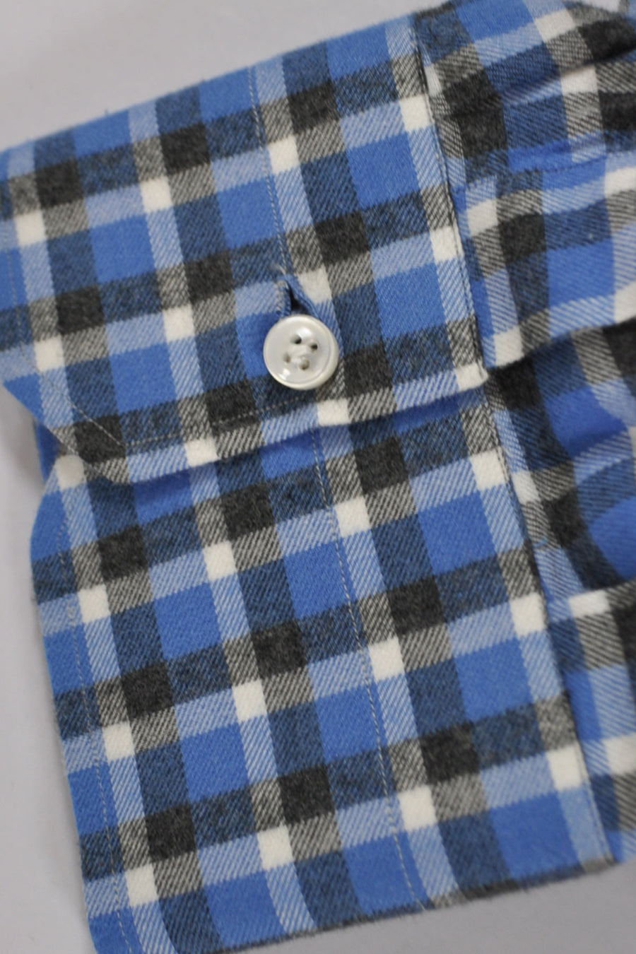 Mattabisch Blue Gray Plaid Flannel Cotton 45 - 18
