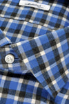 Mattabisch Blue Gray Plaid Flannel