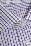 Mattabisch Dress Shirt White Purple