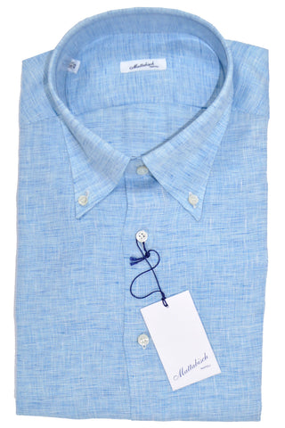 Mattabisch Linen Button-Down Shirt Sky Blue FINAL SALE