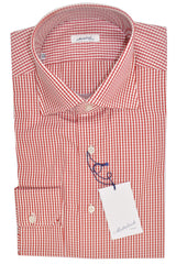 Mattabisch Dress Shirt White Red Check