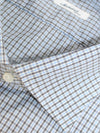 Mattabisch Dress Shirt White Blue Black White Check 44 - 17 1/2 REDUCED - SALE