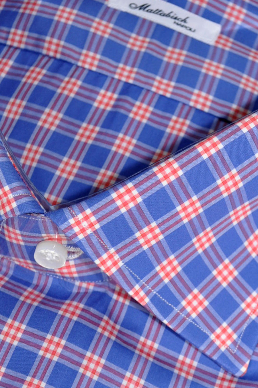 Mattabisch Dress Shirt Navy White Red