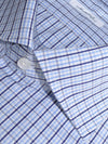 Mattabisch Dress Shirt White Blue Navy Check Tattersall 38 - 15