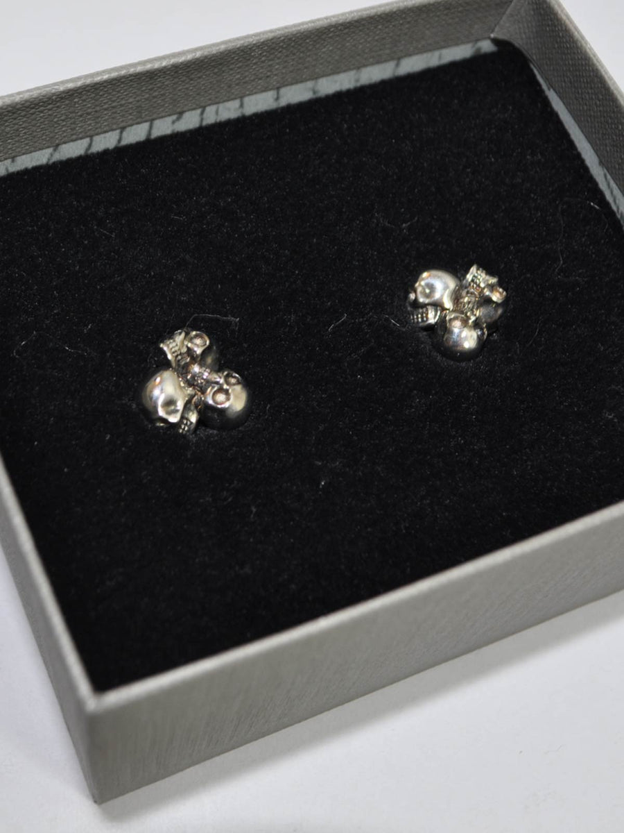 Alexander McQueen Sterling Silver Cufflinks - Three Skulls FINAL SALE