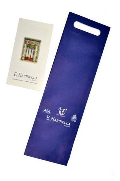 E. Marinella Tie Navy Blue Brown Medallions