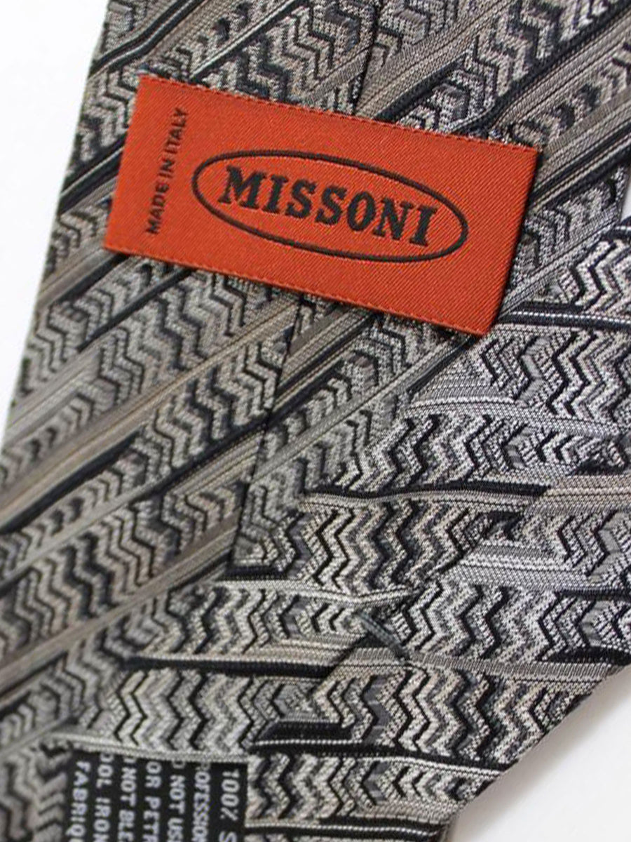 Missoni Tie Gray Black Design
