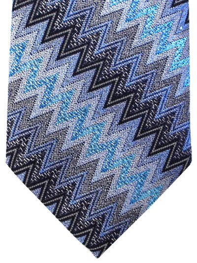 Missoni Tie Black Silver Blue Design