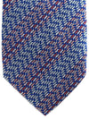 Missoni Tie Red Silver Royal Blue Design