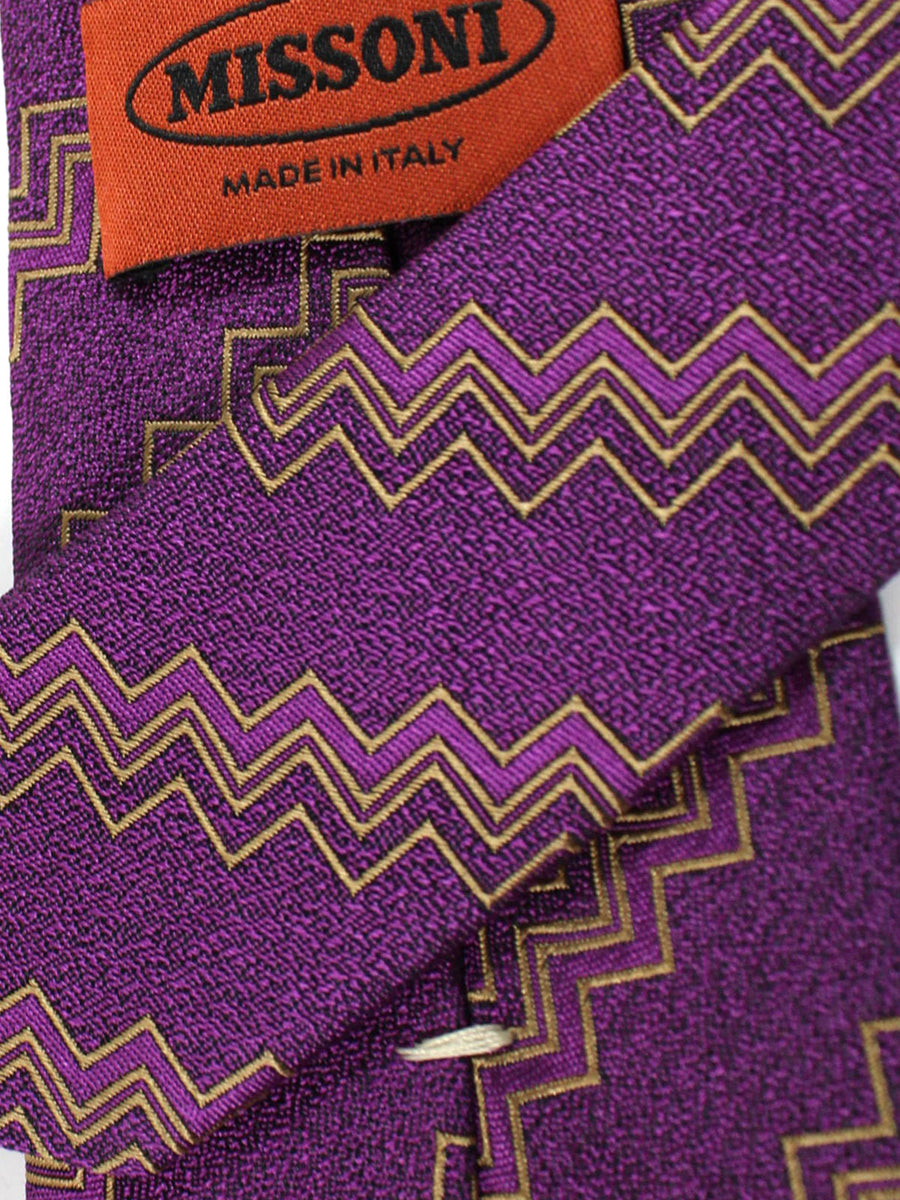 Missoni Tie Purple Olive Design