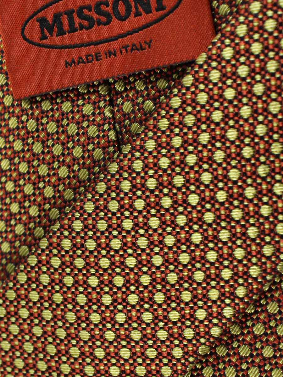 Missoni Tie Brown Olive Geometric
