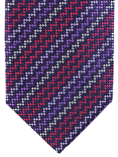 Missoni Tie Purple Coral Silver Stripes