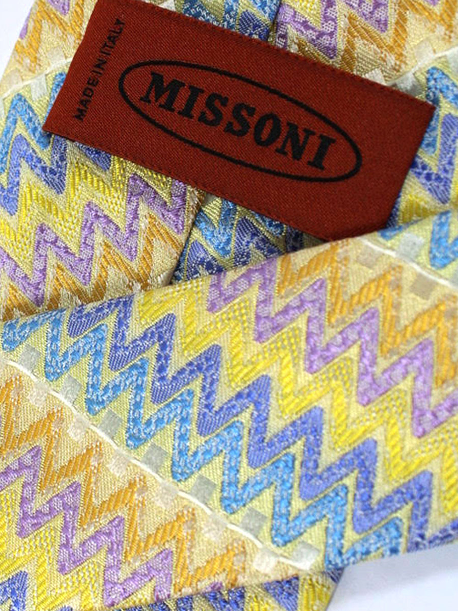 Missoni Tie Yellow Lilac Blue Design