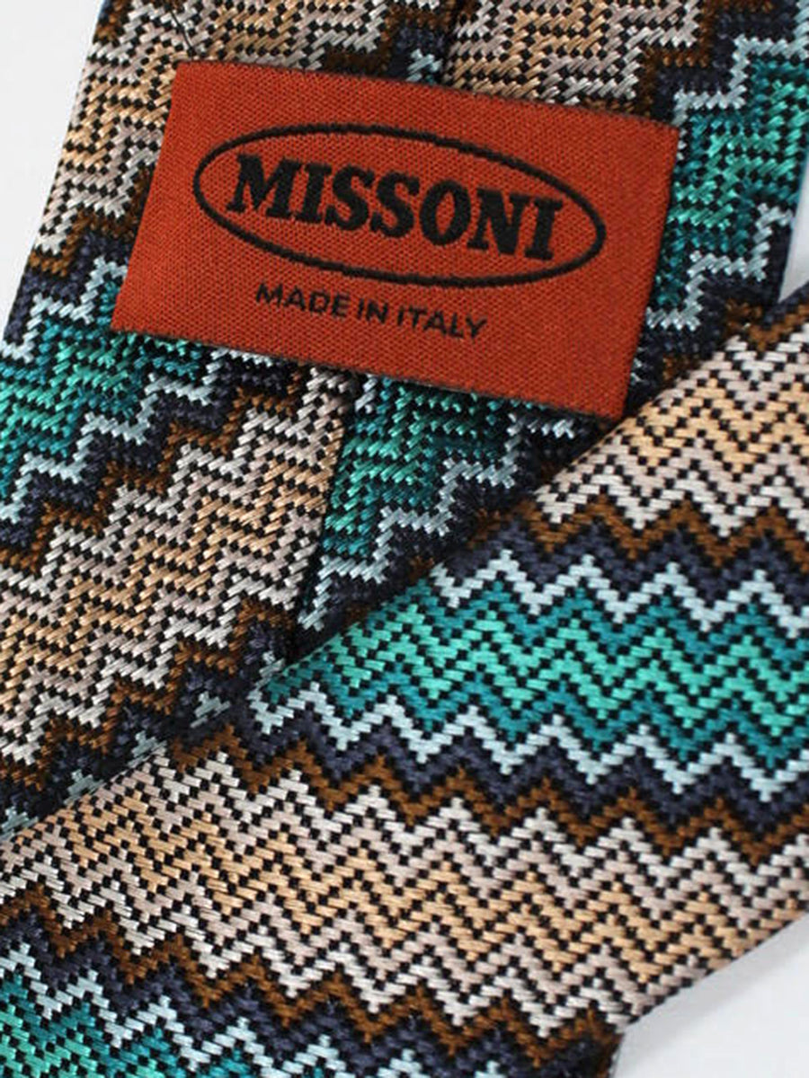 Missoni Tie Emerald Brown Design