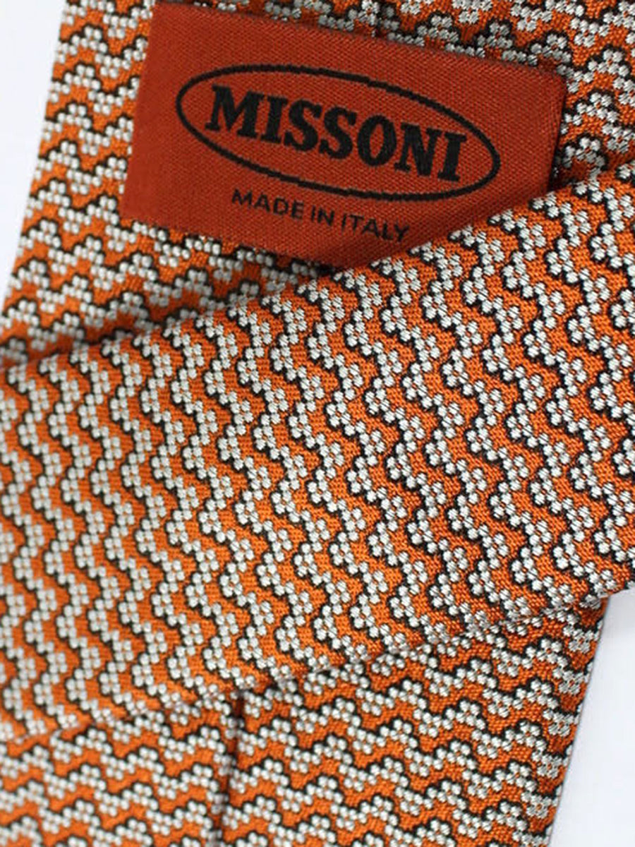 Missoni Tie Orange Silver Design
