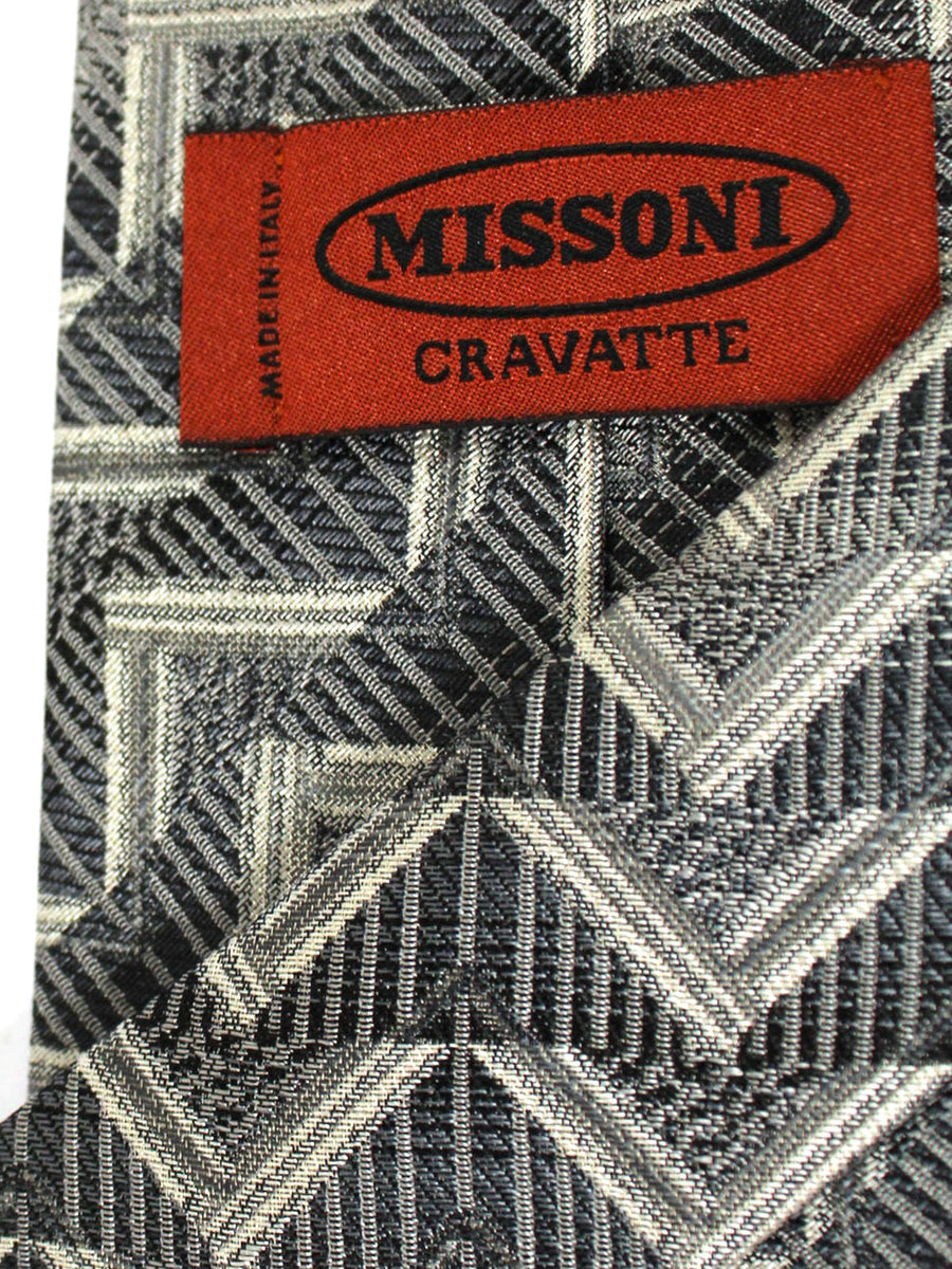 Missoni Tie Black Gray Design