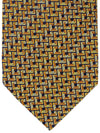 Missoni Tie Orange Gold Geometric Design